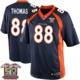 Youth Nike Broncos #88 Demaryius Thomas Navy Blue NFL Alternate Super Bowl 50 Champions Elite Jersey