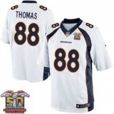 Youth Nike Broncos #88 Demaryius Thomas White NFL Road Super Bowl 50 Champions Elite Jersey