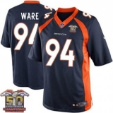 Youth Nike Broncos #94 DeMarcus Ware Navy Blue NFL Alternate Super Bowl 50 Champions Elite Jersey