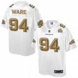 Youth Nike Broncos #94 DeMarcus Ware White NFL Pro Line Super Bowl 50 Fashion Game Jersey