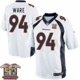 Youth Nike Broncos #94 DeMarcus Ware White NFL Road Super Bowl 50 Champions Elite Jersey
