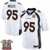 Youth Nike Broncos #95 Derek Wolfe White NFL Road Super Bowl 50 Champions Elite Jersey