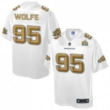 Youth Nike Broncos #95 Derek Wolfe White NFL Pro Line Super Bowl 50 Fashion Game Jersey