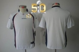 Youth Nike Broncos Blank White Super Bowl 50 Stitched NFL Limited Jersey