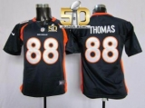 Youth Nike Denver Broncos #88 Demaryius Thomas Blue Alternate Super Bowl 50 Stitched NFL Elite Jersey