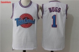 Space Jam Tune Squad #1 Bugs White Stitched Jersey