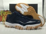 "Super max perfect Air Jordan 11 Low ""Navy"" real carbon fiber"