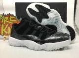 "Authentic Air Jordan 11 Low ""Barons"""