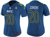 WOMEN\'S NFC 2017 PRO BOWL NEW YORK GIANTS #20 JANORIS JENKINS BLUE GAME JERSEY