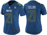 WOMEN\'S NFC 2017 PRO BOWL NEW YORK GIANTS #21 LANDON COLLINS BLUE GAME JERSEY