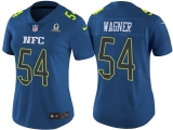 WOMEN\'S NFC 2017 PRO BOWL SEATTLE SEAHAWKS #54 BOBBY WAGNER BLUE GAME JERSEY