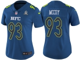 WOMEN\'S NFC 2017 PRO BOWL TAMPA BAY BUCCANEERS #93 GERALD MCCOY BLUE GAME JERSEY