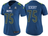 WOMEN\'S NFC 2017 PRO BOWL WASHINGTON REDSKINS #75 BRANDON SCHERFF BLUE GAME JERSEY