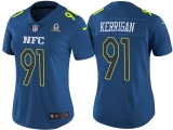 WOMEN\'S NFC 2017 PRO BOWL WASHINGTON REDSKINS #91 RYAN KERRIGAN BLUE GAME JERSEY