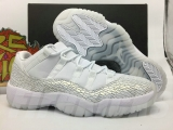 "Super Max Perfect Air Jordan 11 Low GS PRM HC ""Frost White""(with original carbon fiber)"