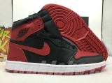 Perfect  Air Jordan 1 Banned Men Shoes-LY(top layer leather)