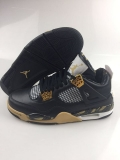Super Max Perfect Air Jordan 4 Black Gold-SY