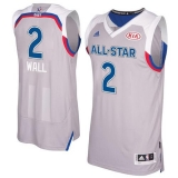 Washington Wizards #2 John Wall Gray 2017 All Star Stitched NBA Jersey