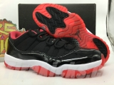 "Super max perfect Air Jordan 11 Low ""Bred"" real carbon fiber"
