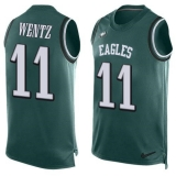 Nike Philadelphia Eagles #11 Carson Wentz Midnight Green Team Color Men\'s Stitched NFL Limited Tank Top Jersey