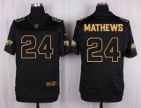 Nike Philadelphia Eagles #24 Ryan Mathews Black Men\'s Stitched NFL Elite Pro Line Gold Collection Jersey
