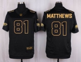 Nike Philadelphia Eagles #81 Jordan Matthews Black Men\'s Stitched NFL Elite Pro Line Gold Collection Jersey