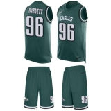 Nike Eagles #96 Derek Barnett Midnight Green Team Color Men\'s Stitched NFL Limited Tank Top Suit Jersey