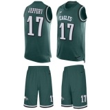 Nike Eagles #17 Alshon Jeffery Midnight Green Team Color Men\'s Stitched NFL Limited Tank Top Suit Jersey