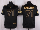 Nike Cleveland Browns #71 Danny Shelton Black Men\'s Stitched NFL Elite Pro Line Gold Collection Jersey