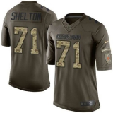 Nike Cleveland Browns #71 Danny Shelton Green Men\'s Stitched NFL Limited Salute to Service Jersey