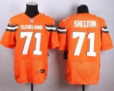 Nike Cleveland Browns #71 Danny Shelton Orange Alternate Men\'s Stitched NFL New Elite jersey