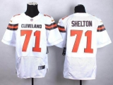 Nike Cleveland Browns #71 Danny Shelton White Men\'s Stitched NFL New Elite Jersey
