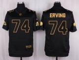Nike Cleveland Browns #74 Cameron Erving Black Men\'s Stitched NFL Elite Pro Line Gold Collection Jersey