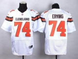 Nike Cleveland Browns #74 Cameron Erving White Men\'s Stitched NFL New Elite Jersey