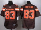Nike Cleveland Browns #83 Brian Hartline Brown Team Color Men\'s Stitched NFL New Elite jersey