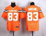 Nike Cleveland Browns #83 Brian Hartline Orange Alternate Men\'s Stitched NFL New Elite jersey