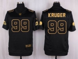 Nike Cleveland Browns #99 Paul Kruger Black Men\'s Stitched NFL Elite Pro Line Gold Collection Jersey