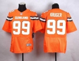 Nike Cleveland Browns #99 Paul Kruger Orange Alternate Men\'s Stitched NFL New Elite Jersey