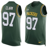 Nike Packers #97 Kenny Clark Green Team Color Men\'s Stitched NFL Limited Tank Top Jersey
