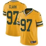 Nike Packers #97 Kenny Clark Yellow Men\'s Stitched NFL Limited Rush Jersey