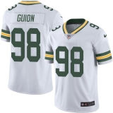 Nike Packers #98 Letroy Guion White Men\'s Stitched NFL Color Rush Limited Jersey