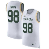 Nike Packers #98 Letroy Guion White Men\'s Stitched NFL Limited Rush Tank Top Jersey