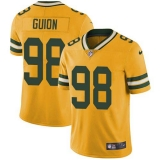 Nike Packers #98 Letroy Guion Yellow Men\'s Stitched NFL Limited Rush Jersey