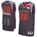 Utah Jazz #20 Gordon Hayward Charcoal 2017 All Star Stitched NBA Jersey