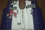 Toronto Raptors #1 Tracy Mcgrady Purple White Split Fashion Stitched NBA Jersey