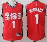 Toronto Raptors #1 Tracy Mcgrady Red Slate Chinese New Year Stitched NBA Jersey