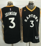 Toronto Raptors #3 James Johnson Black Gold Stitched NBA Jersey