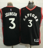 Toronto Raptors #3 James Johnson Black Stitched NBA Jersey