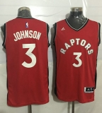 Toronto Raptors #3 James Johnson Red Stitched NBA Jersey