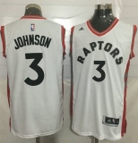 Toronto Raptors #3 James Johnson White Stitched NBA Jersey